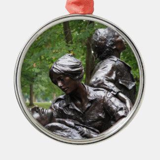 Vietnam Womens Memorial Silver-Colored Round Decoration