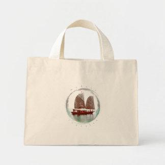 Vietnamese Boat Mini Tote Bag