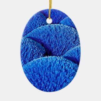 Vietnamese joss sticks in blue ceramic oval decoration