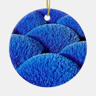 Vietnamese joss sticks in blue round ceramic decoration