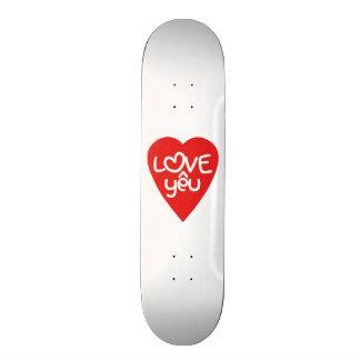 Vietnamese Valentine ♥ Love Yêu ♥ Asian Wordplay 20.6 Cm Skateboard Deck