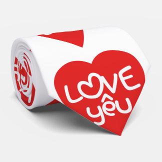 Vietnamese Valentine ♥ Love Yêu ♥ Asian Wordplay Tie