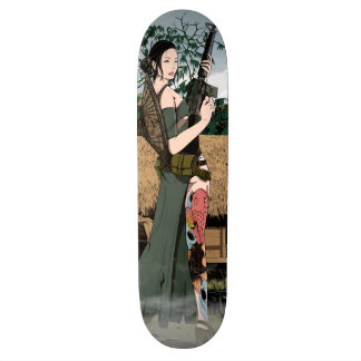 Vietnamese woman 21.6 cm skateboard deck