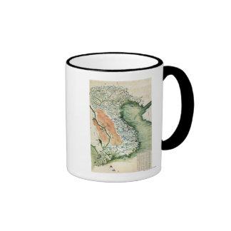 VietnamPanoramic MapVietnam Ringer Coffee Mug