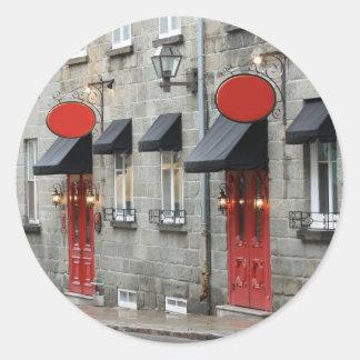 Vieux/Old Quebec Classic Round Sticker