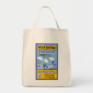 Vieux Systeme Pur Grain Grocery Tote Bag