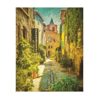 Vieux Village de Grimaud, France Canvas Print