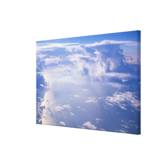 View above scattered cloud canvas print