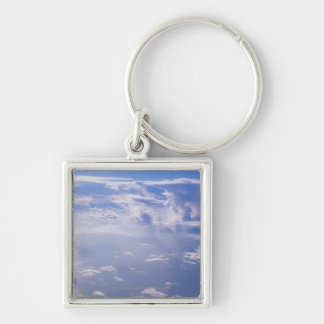 View above scattered cloud key ring