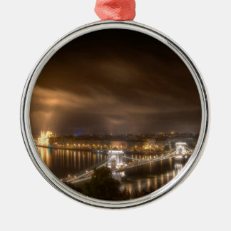 View across Budapest from Buda Castle Christmas Ornament
