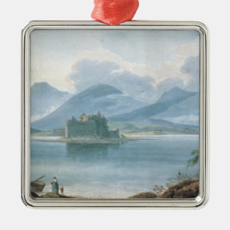 View across Loch Awe Silver-Colored Square Decoration