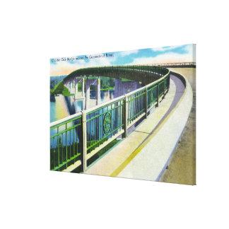 View across the Connecticut River Canvas Print
