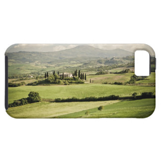 View across Tuscan landscape to farmhouse and 2 iPhone 5 Covers