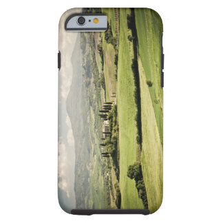View across Tuscan landscape to farmhouse and 2 Tough iPhone 6 Case
