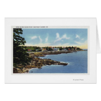 View Along Ocean Point, Homes by the Sea Card