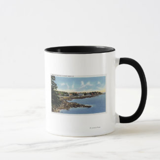 View Along Ocean Point, Homes by the Sea Mug