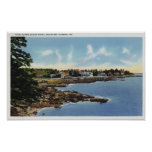 View Along Ocean Point, Homes by the Sea Poster