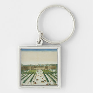 View and Perspective of the Palais Royal from the Silver-Colored Square Key Ring