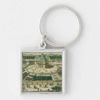 View and Perspective of the Salon de la Menagerie Silver-Colored Square Key Ring