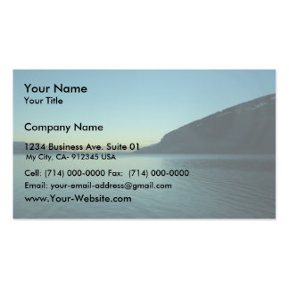 View Beautiful Lake Between Mountains, Business Card