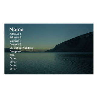 View Beautiful Lake Between Mountains, Business Cards