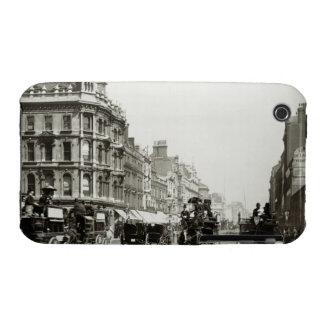 View down Oxford Street, London (b/w photo) iPhone 3 Case-Mate Case