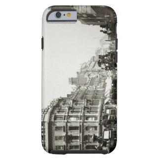 View down Oxford Street, London (b/w photo) Tough iPhone 6 Case