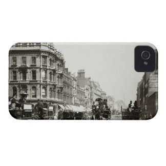 View down Oxford Street, London (b/w photo) Case-Mate iPhone 4 Cases