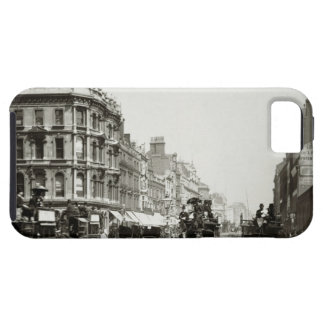 View down Oxford Street, London (b/w photo) iPhone 5 Cover
