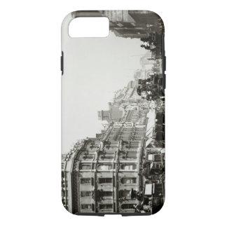 View down Oxford Street, London (b/w photo) iPhone 7 Case