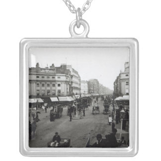 View down Oxford Street, London, c.1890 Silver Plated Necklace