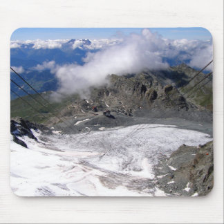 View down the Mont Fort glacier Mouse Pads