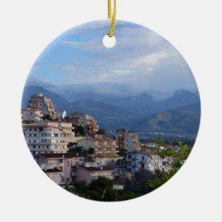 View From A Calabrian Hill Town Christmas Ornament