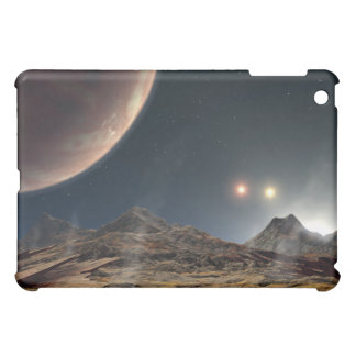 View from a hypothetical moon in orbit iPad mini cover
