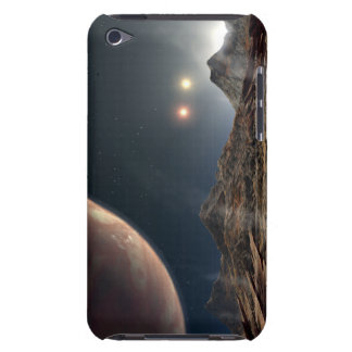 View from a hypothetical moon in orbit iPod touch cases