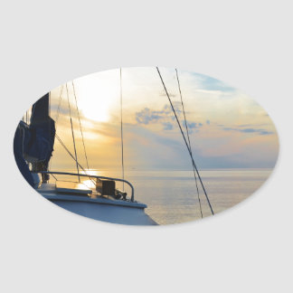View from a ketch oval sticker