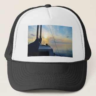 View from a ketch trucker hat