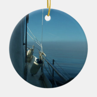 View From A Yacht Christmas Ornament