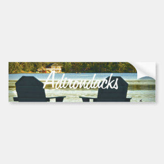 View from Adirondack Chairs in the Adirondacks, NY Bumper Sticker
