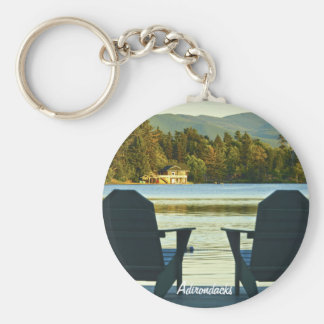 View from Adirondack Chairs in the Adirondacks, NY Key Ring