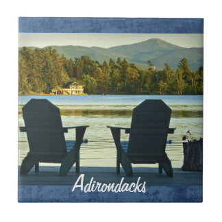 View from Adirondack Chairs in the Adirondacks, NY Tile