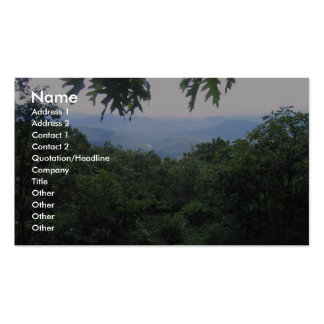 View From An Overlook Over Trees Pack Of Standard Business Cards