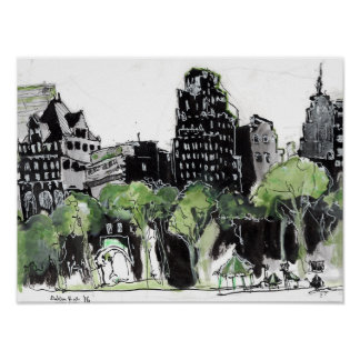 View from Bryant Park NYC Poster