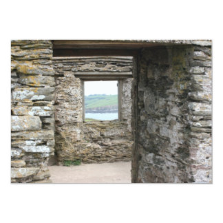 View from Burgh Island towards Devon coast 13 Cm X 18 Cm Invitation Card