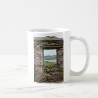 View from Burgh Island towards Devon coast Basic White Mug