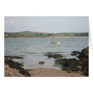 View from Burgh Island towards Devon coast Card