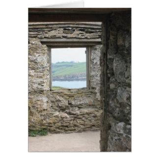 View from Burgh Island towards Devon coast Greeting Card