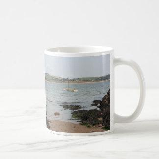 View from Burgh Island towards Devon coast Coffee Mug