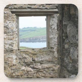 View from Burgh Island towards Devon coast Drink Coaster