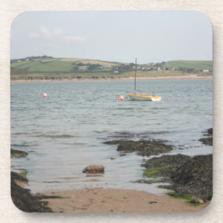 View from Burgh Island towards Devon coast Drink Coasters